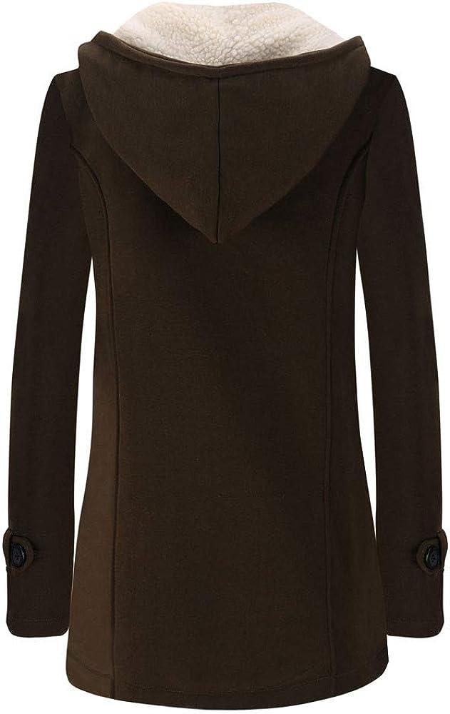 OverDose Damen Ferien Elegant Stil Frauen Warme Langarm Pullover Bluse Mit Kapuze Jacke Mantel Outdoor Schnee D/ünne Lange Oberbekleidung