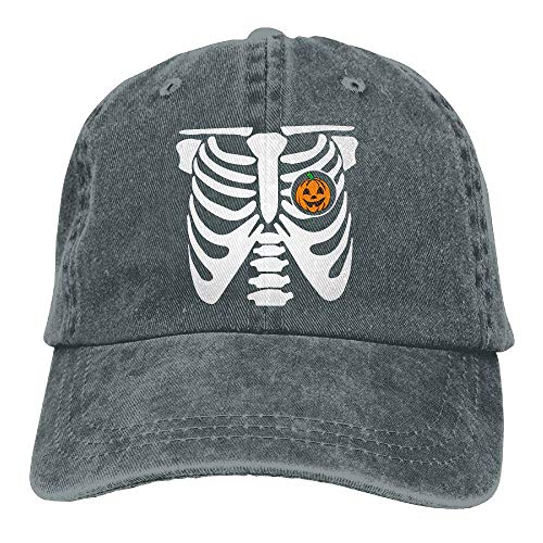 2018 Adult Fashion Cotton Denim Baseball Cap Halloween Pumpkin Skeleton (2) Classic Dad Hat Adjustable Plain Cap