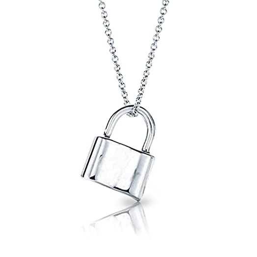 on jewelry a chain g lock locksheart locks pendant m in ed necklaces silver heart co pendants sterling tiffany