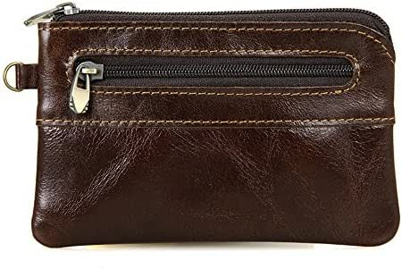 BILLETERA Leather Coin Purse Change Wallet Card Case Small Zip Bag For Men Women