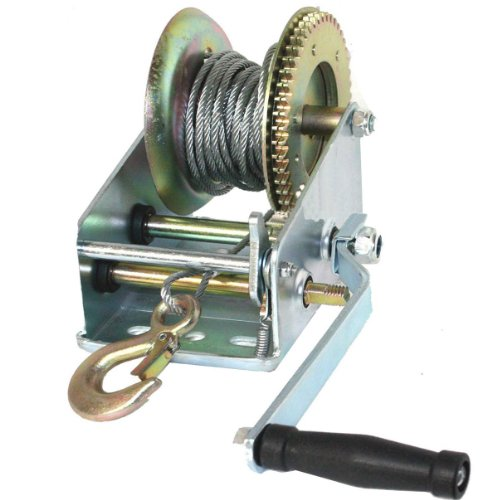 nd Winch Hand Crank Manual Boat ATV RV Trailer 33ft Cable ()