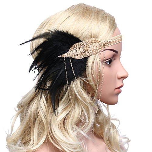 BABEY (Gold Flapper Headband)