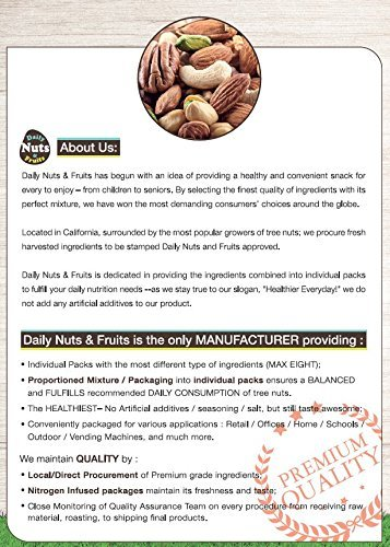 3 LB Daily Nuts FOUR Essential Mix (Almonds (Dry-Roasted), Cashews (Dry-Roasted), Walnuts, Macadamias) by Daily Nuts & Fruits (Image #6)