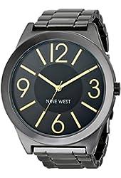 Nine West Women's NW/1585GNGN Gunmetal Bracelet Watch