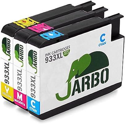 JARBO 3 Color Reemplazar por HP 932XL 933XL Cartuchos de tinta (1 ...
