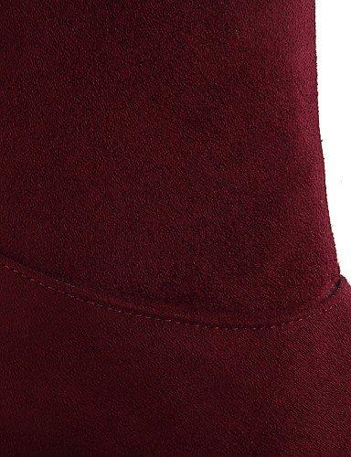 XZZ/ Damen-Stiefel-Outddor / Büro / Lässig-Kunstleder-Keilabsatz-Wedges / Modische Stiefel-Schwarz / Rot red-us5.5 / eu36 / uk3.5 / cn35