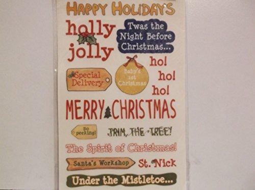 (American Traditional Dear Santa Word Rub-ons)