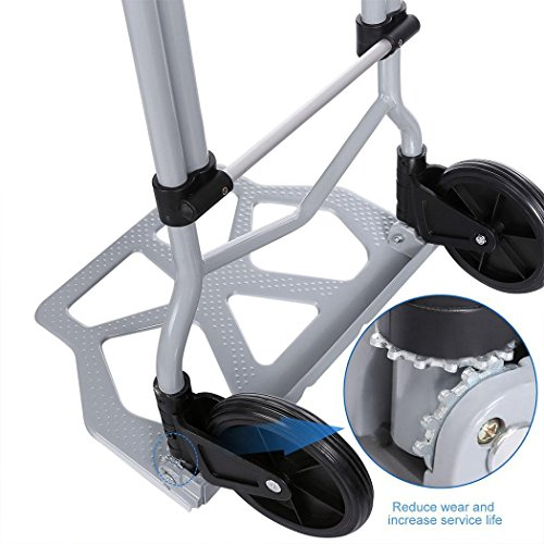 Dtemple 220lbs Capacity Heavy Duty Hand Truck/Dolly for Industrial Travel Shopping by Dtemple (Image #4)