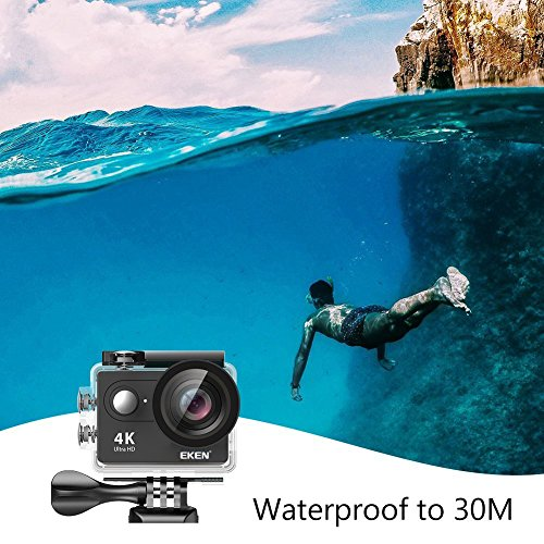 EKEN H9R Action Camera 4K Wifi Waterproof Camera Full HD 25fps 30fps 1080P 60fps 120fps Camera 12MP Photo and 170 Lens includes 11 2 Batteries
