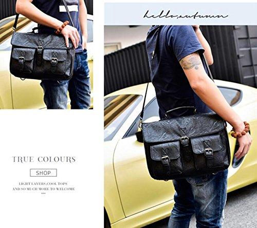 Bolsos Negro Laptop Para Ordenador Carry Case Messenger Cm Mano Work Bolsas 11 27 Color Lona Travel Hombro Negro Hombres Ordenador Portátil De Cuero 34 De Portátil Bolsa 0wYxfEnFq