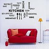 Yosoo Etiqueta De La Pared De Vinilo De PVC Extraíbles Mural De Arte De DIY para La Cocina Casera Salón De Comedor Salón De Decoración De Café Bar Cocina