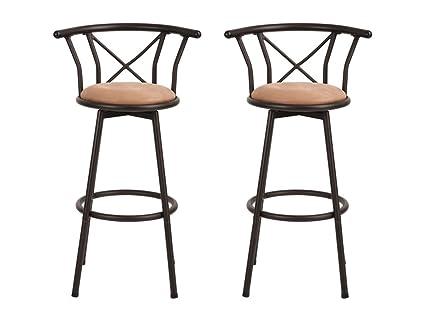 Set di 2 sedie/sgabelli da bar in stile industriale vintage, con ...