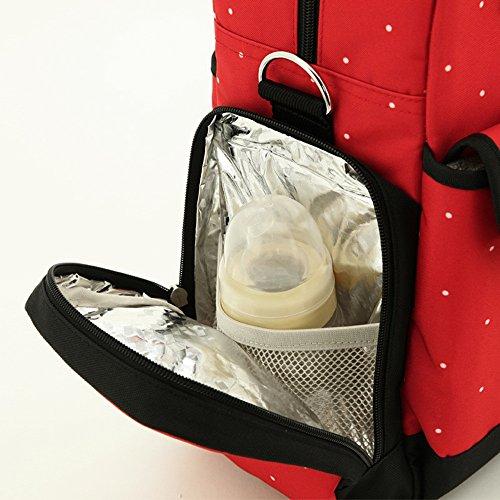 Global- 31 * 15 * 34 cm de tela Oxford multifunción paquete de la momia bolsa de gran capacidad Madre Las mujeres embarazadas Saliendo mochila ( Color : # 4 ) # 4
