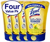 Lysol No-Touch Hand Soap Refill, 8.5 Fl Oz Soft on Skin Hard on Germs, Odor Neutralizing Lemon & Verbena Scent, 4 Count