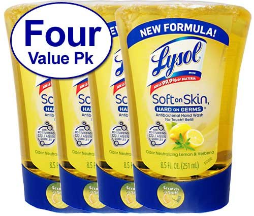 Lysol No Touch Hand Soap Refill - 4