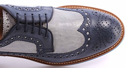La Martina Scarpe Uomo Eleganti L3025206 Opus Blue Opus Perla Made in Italy New