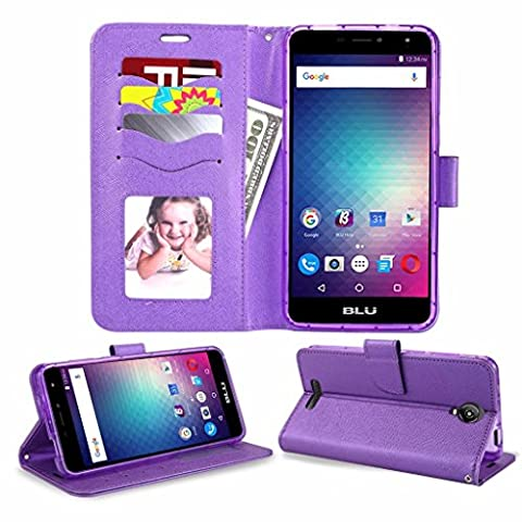 Blu Studio XL 2 Case New Frontier Wireless Accessory Wallet with PU Leather + TPU Inner Fold stand Pouch with ID Credit Card Photo Cash Slots (Wallet (Phone Wallet For Blu Studio Phone)