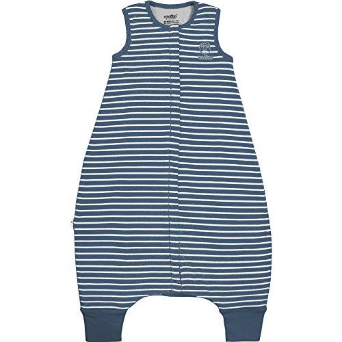 Woolino 4 Season Baby Sleep Bag With Feet Opening, Merino Wool, 18-36mo, Navy Blue (Wool Nursery)