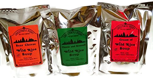 Wild Rice Soup Mix - Gift set of 3 Assorted soup mixes - Christmas Point 3 pack assortment bundle