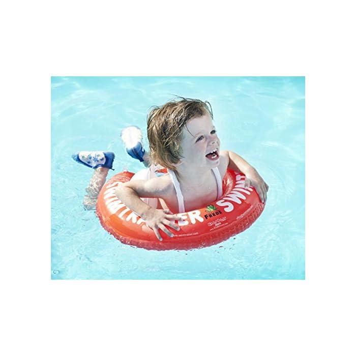 514OIvTCePL Fabricado en un fuerte PVC Ofrece una posición ideal en el agua Las almohadillas (blocs) inflables evitan resbalones o deslizamientos
