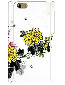 Customized Artistic Ink Flower 3D Print Eco TPU Phone Cover Case for Iphone 6 4.7 Inch