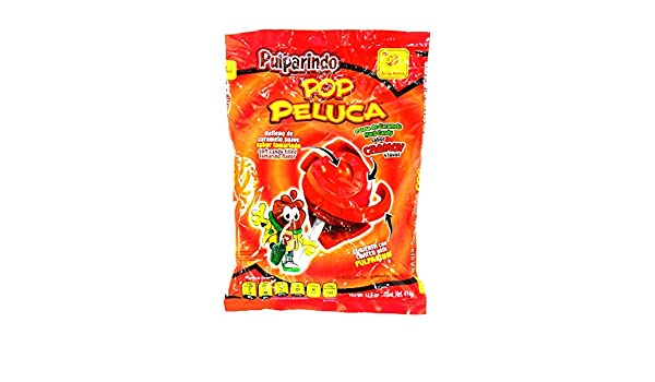Amazon.com : de la Rosa Pulparindo Pop Peluca sabor CHAMOY flavor 14.6 oz bag : Grocery & Gourmet Food
