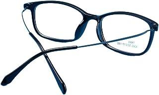 Mkulxina Retro Metallbrille Nicht verschreibungspflichtige Brille für Frauen, Männer, Computer Brille (Color : Purple)
