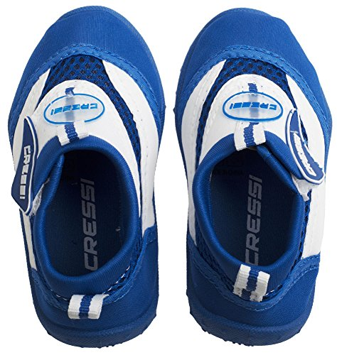 Cressi Coral Junior Aqua Shoes, Zapatillas Chanclas, Niños, Azul (Blau/Weiss), 34 EU