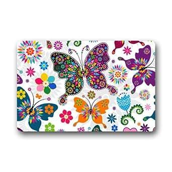 """Mariposa personalizado maravillosa decoración Felpudo 23.6""""(L) X 15,7(W)"""