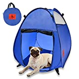 dog ramps for rv - MyDeal Pop Up Pet House in a Bag for Portable Play Pen or Kennel Tent with 3 Net Windows and Zipper Door for Shade , Shelter and Safety . Perfect for Dog , Cat , Rabbit + More!