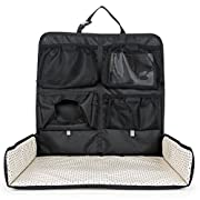 Beanko Baby Diaper Changing System for Your Car - Portable Diaper Changing Station, Toy Loops, 4 Pockets, Wet Wipes Holder, Tummy Time Mat, Kick Mat, Tablet Holder, Home, Hotel, Travel, Mini Stars