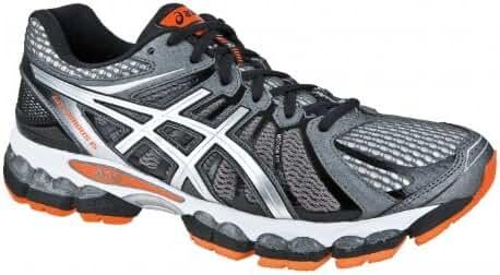 ASICS Gel-Nimbus 15 2E Zapatilla de Running Caballero, Gris/Negro/Naranja, 51.5: Amazon.es: Zapatos y complementos