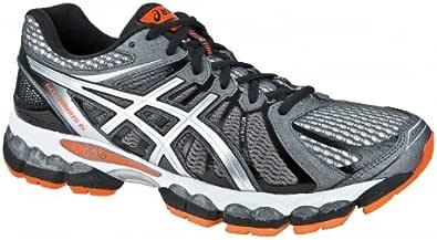 ASICS Gel-Nimbus 15 4E Zapatilla de Running Caballero, Gris/Negro/Naranja, 42.5: Amazon.es: Zapatos y complementos