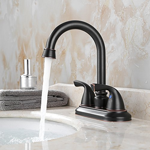 Parlos 2 Handle Bathroom Sink Faucet With Drain Assembly