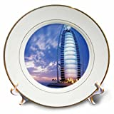 Florene Worlds Exotic Spots - Beach Hotel In Dubai - 8 inch Porcelain Plate (cp_56115_1)