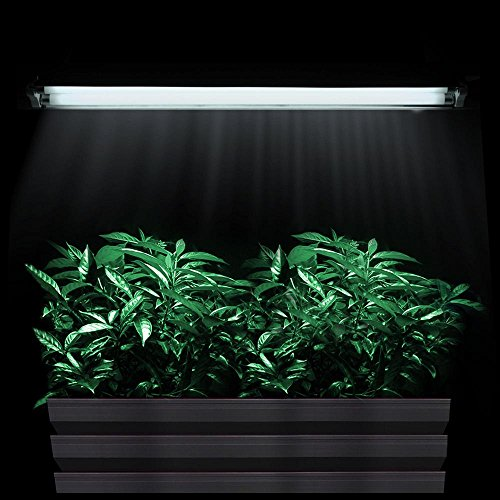 Yescom T5 2ft Grow Light 2x 6500K Tubes HO 24