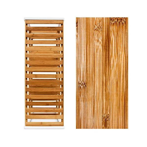 Relaxdays 10017705 Étagère à Chaussures en bambou HxlxP : 54,5 x 70 x 24,5 cm meuble à chaussures 3 étages pour 12…