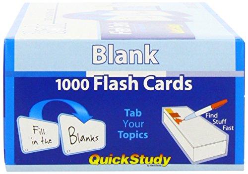 Blank (Quickstudy (Flash Cards)): Inc. BarCharts: 8601404269769 ...