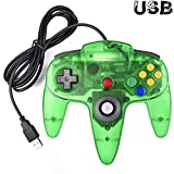 kirby and the crystal shards 64 - Classic Nintendo 64 Controller, iNNEXT N64 Wired USB PC Game pad Joystick, N64 Bit USB Wired Game stick Joy pad Controller for Windows PC MAC Linux Raspberry Pi 3 Sega Genesis Higan (Jungle Green)