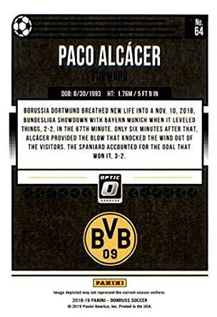 Amazon com: 2018-19 Donruss Optic #64 Paco Alcacer Borussia