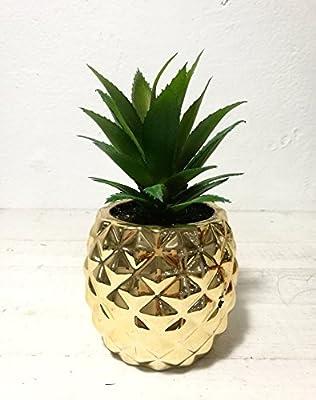 Gold Pineapple Plant Pot