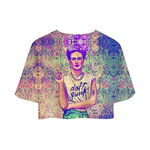 Donna Kahlo Casuale Pantaloncini CTOOO XS Frida 2018 3D Corta 10 XXL Stampa Maglietta Wtqgzxw0g8