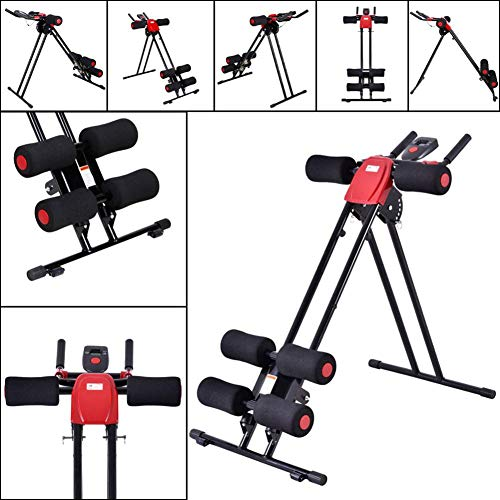 Rainrain27 Straight Linear Type Powerful Private Fitness Club Abdomen Exerciser Vertical Abdominal Machine Beauty Waist Machine for Office Home Black and Red by Rainrain27 (Image #6)