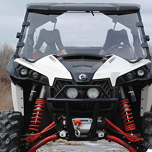 CAN Am Maverick 1000 Scratch Resistant Full Front Windshield w/ Clamps (Can Am Maverick Windshield compare prices)