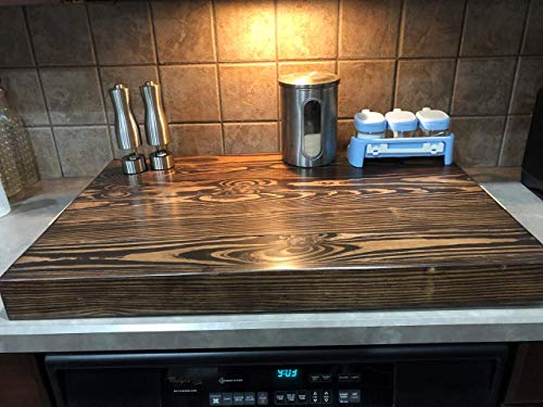 (Black Lava Stove Top Cover| Hand-made Wood stove cover)