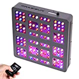 MAXSISUN Timer Control 600W LED Grow Light 12-band Dimmable Full Spectrum for Indoor Hydroponics Plants Veg and Flowering