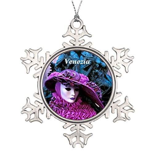 Touytlyd Tree Branch Decoration Stylish Unique Christmas Tree Decorations Glamor Purple Carnival (Italian Carnival Costume Ideas)
