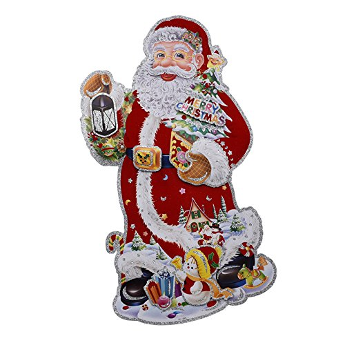 Wapel Christmas Decorations Double-Sided Stickers Santa Three-Dimensional Wall Stickers Can Be Customized ()