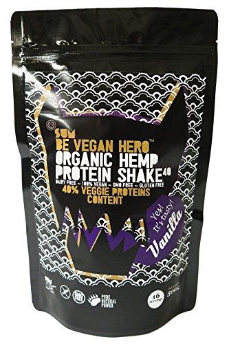 SUM Be Vegan Hero - Bio Hanf Protein Pulver Protein Shake in Premium Qualität - 500g (Vanille)