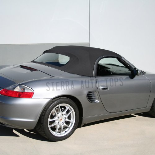 Porsche Boxster Convertible Top 03-04, Graphite Gray German A5, Glass Window (Convertible Top Hold Down Cables)